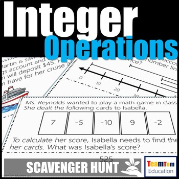 Integer Operations Scavenger Hunt