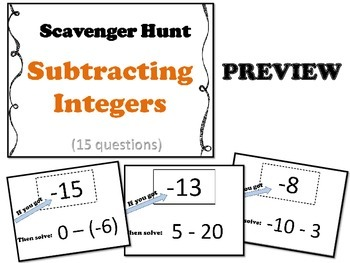 Integer Operations Scavenger Hunt Bundle