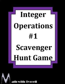 Integer Operations Scavenger Hunt Game #1