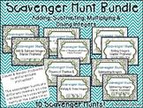 Integer Operations - Scavenger Hunts - 10 Pack