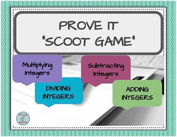 Integer Operations Scoot Game Bundle