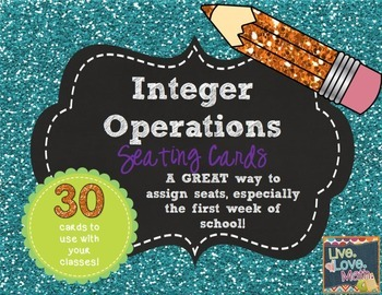 Integer Operations Seating Cards
