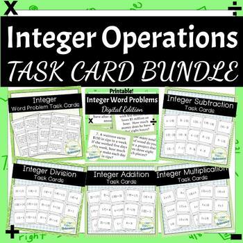 Integer Operations Task Card Bundle