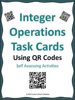 Integer Operations Task Cards using QR Codes