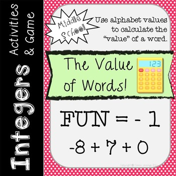 Integer Operations - Combining Integers - Centers and Games