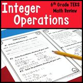 6th Grade Math Warm Ups: Integer Operations