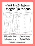 Integer Operations - Worksheet Collection