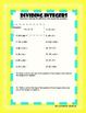 Integer Operations Worksheet Pack