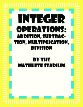 Integer Operations Worksheet Pack