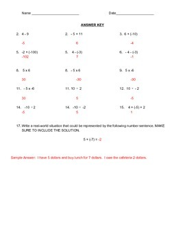 Integer Operations and Converting Fractions and Decimals