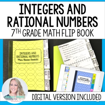 Integer Operations and Rational Numbers Mini Tabbed Flip Book for 7th Grade  Math