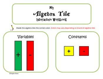 Integer Operations with Algebra Tiles- Interactive Workbook