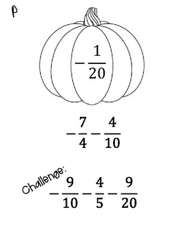 Integer Operations with Fractions Scavenger Hunt