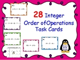 Integer Order of Operation Task Cards (Whole Numbers)