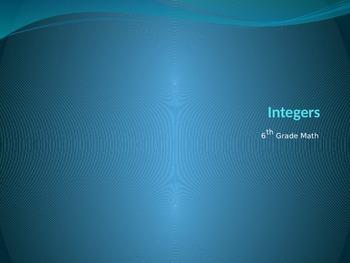 Integer Powerpoint Lesson