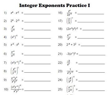 Integer Practice