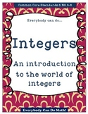Integer Practice:  Homework or Worksheets