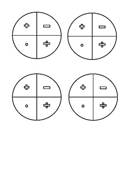 Integer Practice using Dice and Operations Spinner