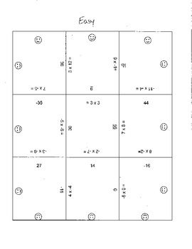 Integer Puzzle Game