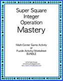 Integer Puzzle Game or Math Center Activity All four operations
