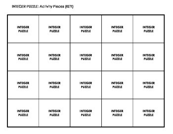 Integer Quilt Puzzle - Activity Based Learning