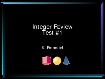 Integer Review