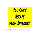 Integer Review Digital Escape Room