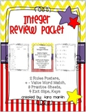 Integer Review {Exit Slips & Practice Sheets for Positive
