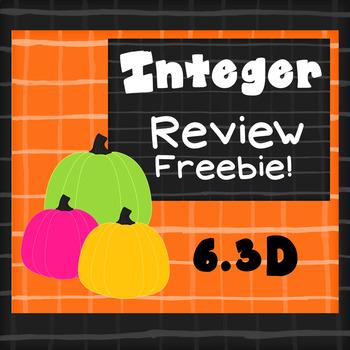Integer Review Freebie!  TEKS 6.3D