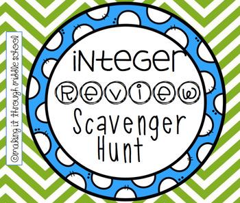 Integer Review Scavenger Hunt