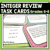Integer Review Task Cards (Adding, Subtracting, Multiplying, Dividing)
