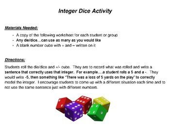 Integer Roll and Write