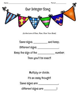 Integer Rule Song