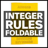 Integer Rules Foldable with Examples