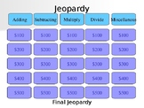 Integer Rules Jeopardy Game