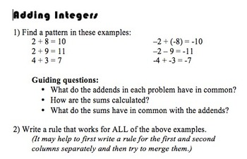 Integer Rules Stations