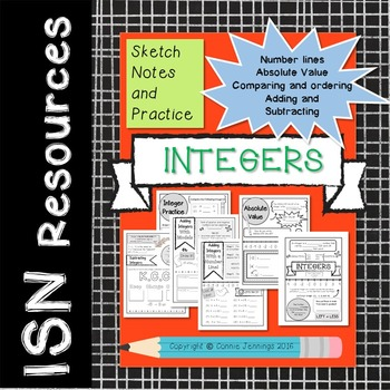 Integer Notes - Integers, absolute value, comparing, addin