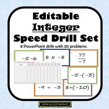 Adding and Subtracting Integers Multiplying and Dividing Integers Fluency