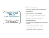Integer Speed Drills