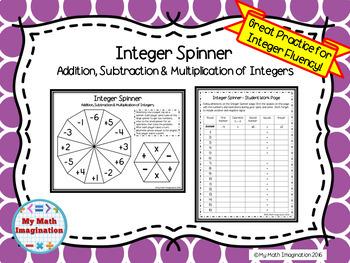 Integer Spinner Game - Integer Fluency