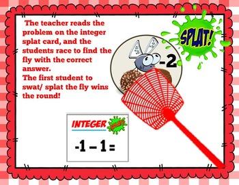 Integer Splat- Adding & Subtracting Integers Edition