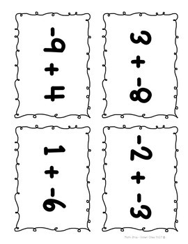 Integer Spoons GAME (Adding Integers)