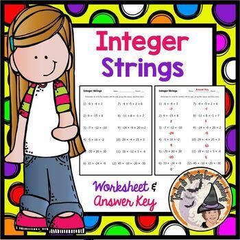 Integer Strings Grouping Like Integers Negatives Positives