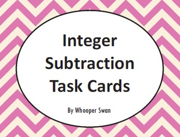 Integer Subtraction Task Cards