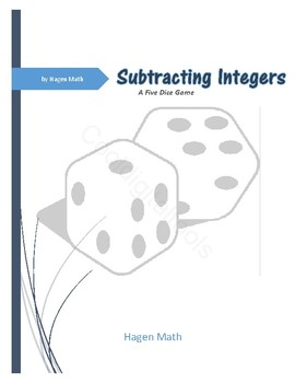 Integer Subtraction Dice Game (TEKS 6.3D)