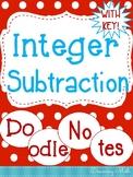 Integer Subtraction Doodle Notes