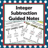Integer Subtraction Guided Notes