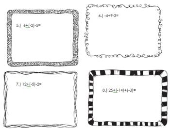 Integer Task Cards!