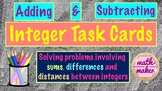 Integer Task Cards ~ Adding, Subtracting, Distances, and Additive Inverses