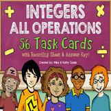 Integer Task Cards {All Operations}